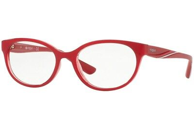 9d4568979b New Vogue VO5103 2470 RX-able Eyeglasses Frames Transparent Red 53mm 51-17-