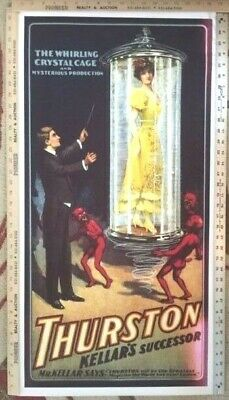 12x36 1927 Thurston Magician Poster East Indian Magic Rope Trick