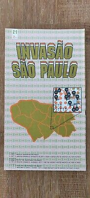 Carte Map Space Invader Sao Paulo - Invasion 21