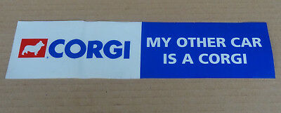 Corgi Toys - original shop display point of sale window sticker streamer sign