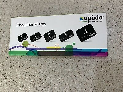 (PSP) Apixia Phosphor Plates Size #2 Pk/4 10802 Works with ScanX PSP scanner
