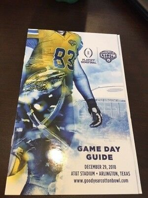 2018 Cotton Bowl Official Game Day Guide Program NCAA 12/29/18 Notre Dame Clemso