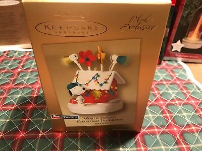 "Keepsake Ornament ""World Famous Christmas Decorator Snoopy"