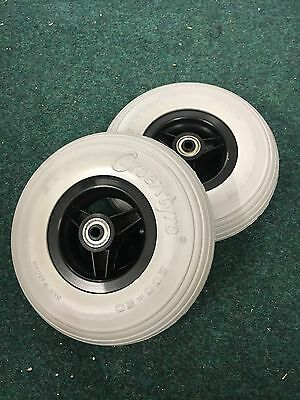 Complete Front Solid Tyres And Rims For An Electric/Manual Wheelchair