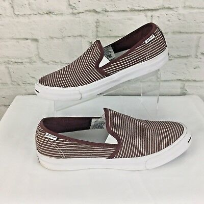 9cc5f134c716 Converse All Star Deck Slip on shoes Jack Purcell Unisex M 10   W 11.5  striped