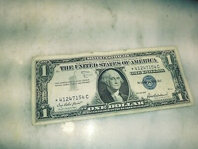 1957 STAR Silver Certificate, circulated, average condition