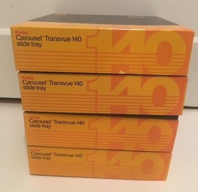 Kodak Carousel Transvue 140 slides trays with original boxes a lot of 4.