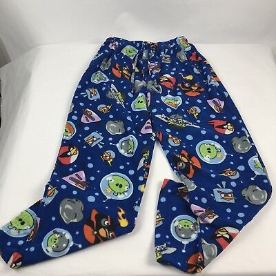 Angry Birds Space Fleece Pajama Lounge Pants Size Small Polyester