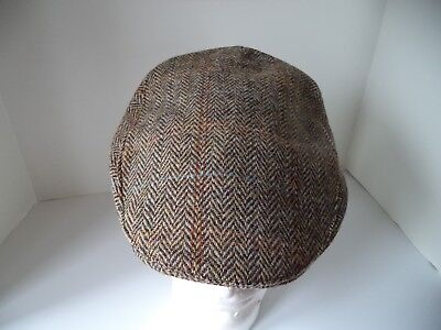 8e9dfb56dfb16 Men s Irish Tweed Touring cap Brown Hanna hat made in Donegal Ireland M 7  ...