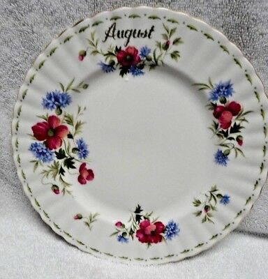 Royal Albert Flower of the Month August  Plate