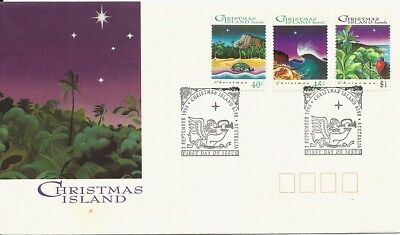 1993 Christmas Island - Christmas First Day Cover FDI