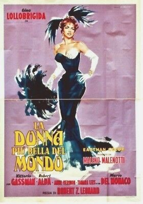 Original vintage poster BEAUTIFUL BUT DANGEROUS 1955 Gina