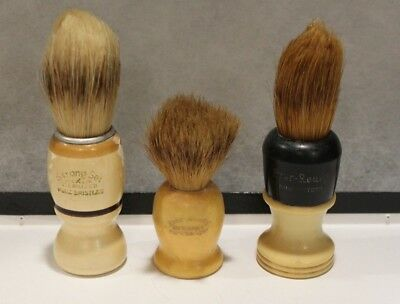 Lot Of 3 Vintage Shaving Brushes  - Ever Ready - Strong Set  *10