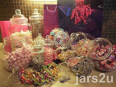 jars2u-11 Jar Party Pack of Victorian Jars and Lids with 2 Scoops & 100 BlueBags