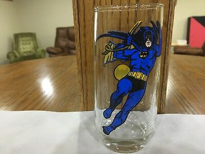 1966 DC Comics Batman Pepsi Collector Series Rare Round Bottom Glass