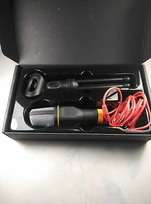 Professional Microphone 3.5 Condenser Sound Podcast Studio PC Laptop Kit Mic