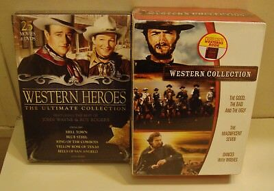 Western Collection  Western Heroes Collection Clint Eastwood 2 Sets NEW DVDs