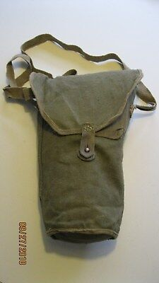 Original Italian Army WW2 WWII Type.35 Gas Mask Bag w/ Strap