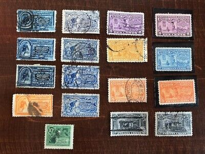 US special delivery lot E1-E19 MNH + Used 17 Stamps BOB High CV E7! Bicycle