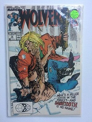 1989 Wolverine #10 Comic Book Before Claws Sabretooth Battle NM