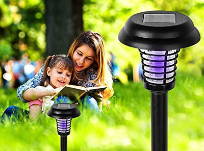 Solar Powered Outdoor Insect Killer Bug Zapper Mosquito Killer Hang or Stick New