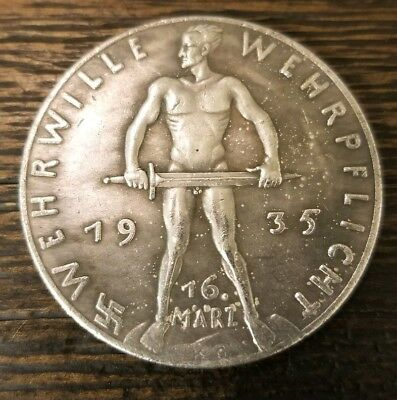 WW2 WWII German Miltary Leader Coin War Germany Collector Collection