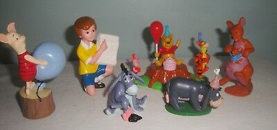 Disney Winnie the Pooh Lot of 6 Figures Cake Toppers Tigger Piglet Eeyore
