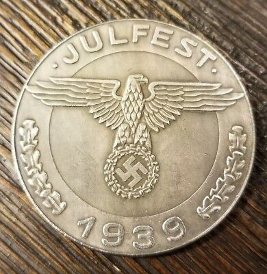 WW2 WWII German Miltary Leader Coin War Germany Collector Collection Julfest
