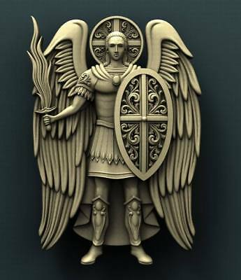 "3D STL Model for CNC Router Aspire Artcam - ""Saint Michael"""