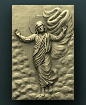 """3D STL Model for CNC Router Aspire Artcam - """"Jesus from the Sky"""""""