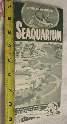 1950's. SEAQUARIUM  brochure on Rickenbacker Causeway Miami Marine Exhibition