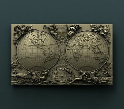 "3D STL Model for CNC Router Aspire Artcam - ""The GLOBE"""
