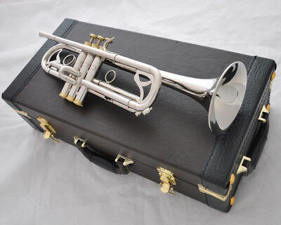 Professional Jinbao silver nickel plated Bb Trumpet Horn NEW case
