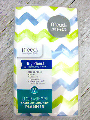 Mead Academic Monthly Pocket Planner July 2018 to June 2020  2 Year