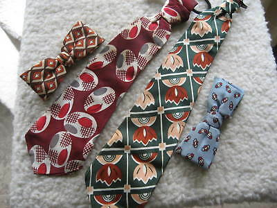 Vintage Boys Neckties Royal Bow Ties Lot Of Four 1950's
