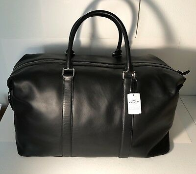 Coach Duffle 52 Voyager Bag Large in Black Leather NEW