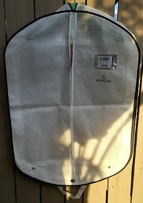 """New Small White MONCLER Garment Bag/Suit Cover-Carry Case - 34.5"""" x 25"""" x 4.5"""""""