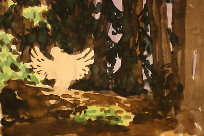 Walt Disney Bambi 1942 Mel Shaw Animation Art Watercolor Illustration Concept