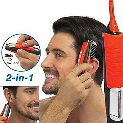 Electric Shaver Grooming Remover Hair Trimmer 2 In 1 Male Switchblade Mustache