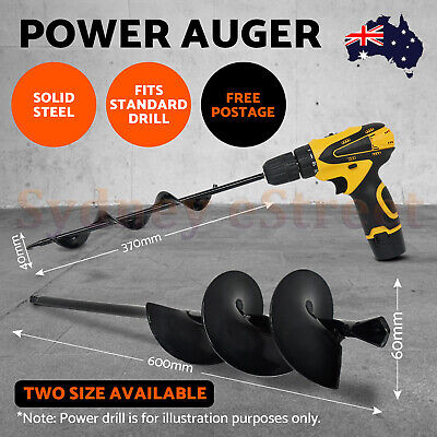 Drill Drive Power Garden Auger Earth Planter Drill Bit Post Hole Digger 37/57CM