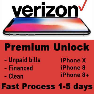 VERIZON iPhone X 8 8+ PREMIUM UNLOCK SERVICE Fast