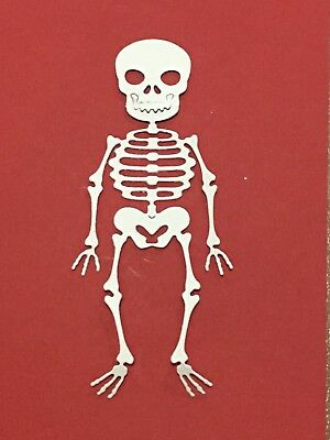 8 Skull Die Cuts - CARD MAKING,EMBELLISHMENTS, TOPPERS