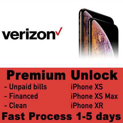 VERIZON iPhone XS XS Max XR PREMIUM UNLOCK SERVICE FAST