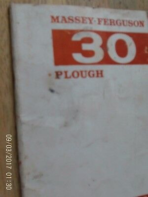 Massey-Ferguson  30 Plough Instruction   Book