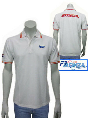low priced b4e75 ea173 OFFERTA POLO-SHIRT MAGLIETTA HONDA GAS HRC BIANCA MOTO GP ORIG. (h10)