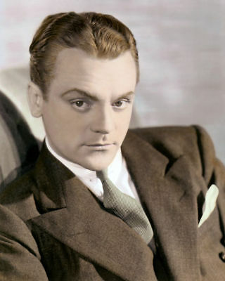 """JAMES CAGNEY HOLLYWOOD ACTOR & MOVIE STAR 8x10"""" HAND COLOR TINTED PHOTOGRAPH"""