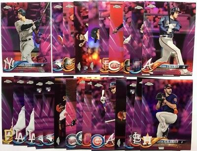 2018 Topps Chrome Pink Refractors - You pick from dropdown to complete your set!