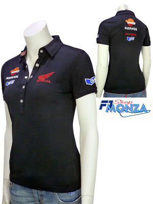 the latest 3b465 6ef26 OFFERTA DONNA WOMAN Polo-Shirt Maglietta Honda Gas Hrc Moto Gp Orig. H11