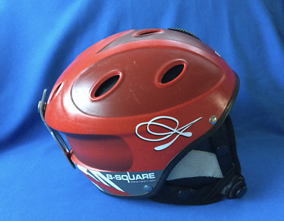 B-SQUARE Ski-Snowboarding Protection Helmet  Red Size 53/54  Boy Girl Child