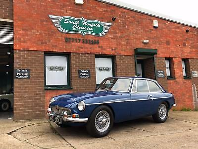 1970 MGC GT, Mineral Blue, Black leather and overdrive. Years MOT FREE DELIVERY
